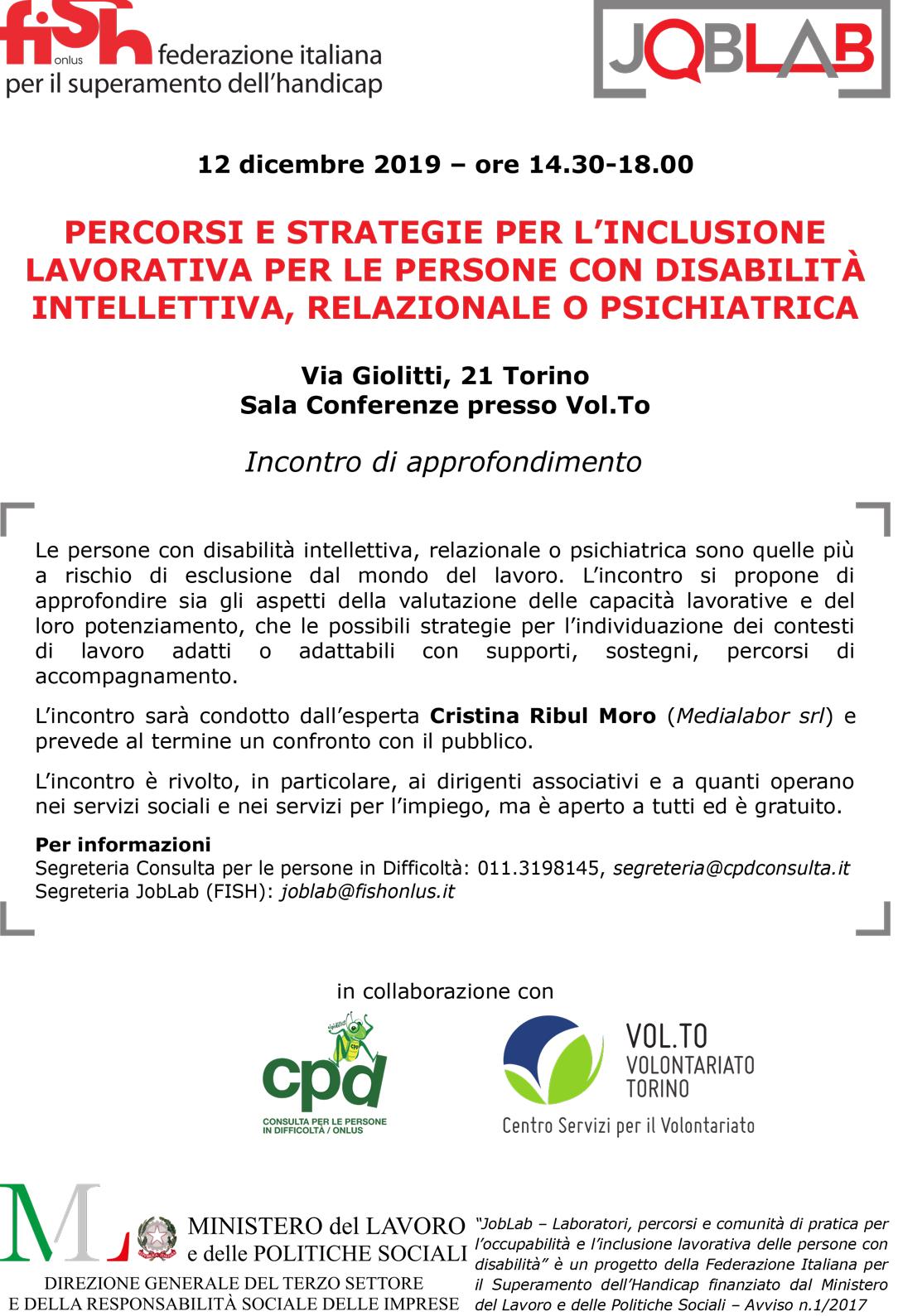 Percorsi e strategie per l'inclusione lavorativa per le persone con disabilità intellettiva, relazionale o psichiatrica.